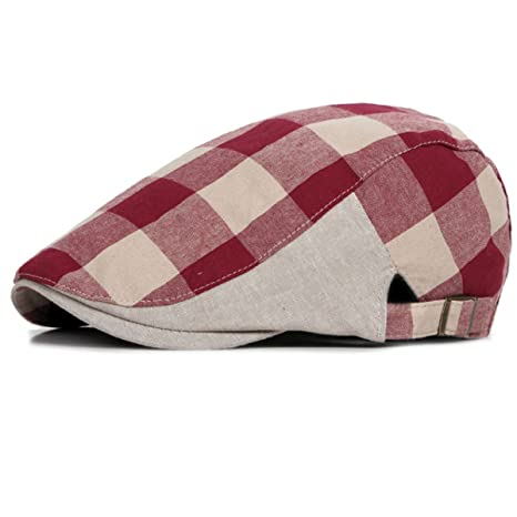 qualità stabile miglior servizio davvero comodo Cappello da Uomo Piatto in pelle da uomo Newsboy Cap L'alta ...