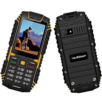 Premewish Téléphone Portable Mobile Senior Grosses Touches Antichoc et  Antipoussière Étanche IP68 (Noir + Jaune 1483109dc5e