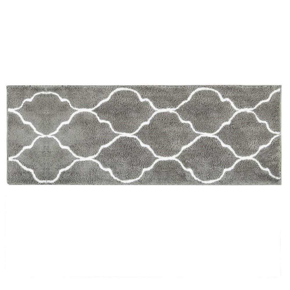 Hihome Floor Mats for Home Kitchen Entrance Rug Indoor Grey Doormat Bath mat (18×47'', Grey)