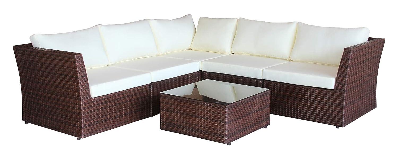 Baidani Designer Sitzgruppe Atmosphere, 1 Ecksofa, 1 Tisch mit Glasplatte, 2 Bezugsgarnituren, braun