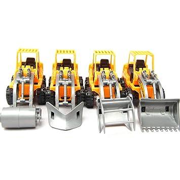 Excavadora de juguete (Pack de 2) de excavadora Toy/excavadora/camiones/tirar de juguete carro juguete/de cavar máquina/Play vehículos juguete/aula ...