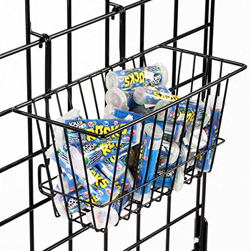Only Hangers Small Wire Storage Baskets for Gridwall, Slatwall and Pegboard - Black Finish - Dimensions: 12'' x 6'' x 6'' Deep - Economically Sold in a Set of 6 Baskets by Only Hangers (Image #5)
