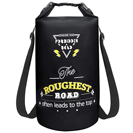 096622d568 Forbidden Road Waterproof Dry Bag 2L   5L   10L   15L   20L Sack Bag (8  Colors) Long Adjustable Shoulder Straps Included - Roll Top Dry Compression  Sack for ...