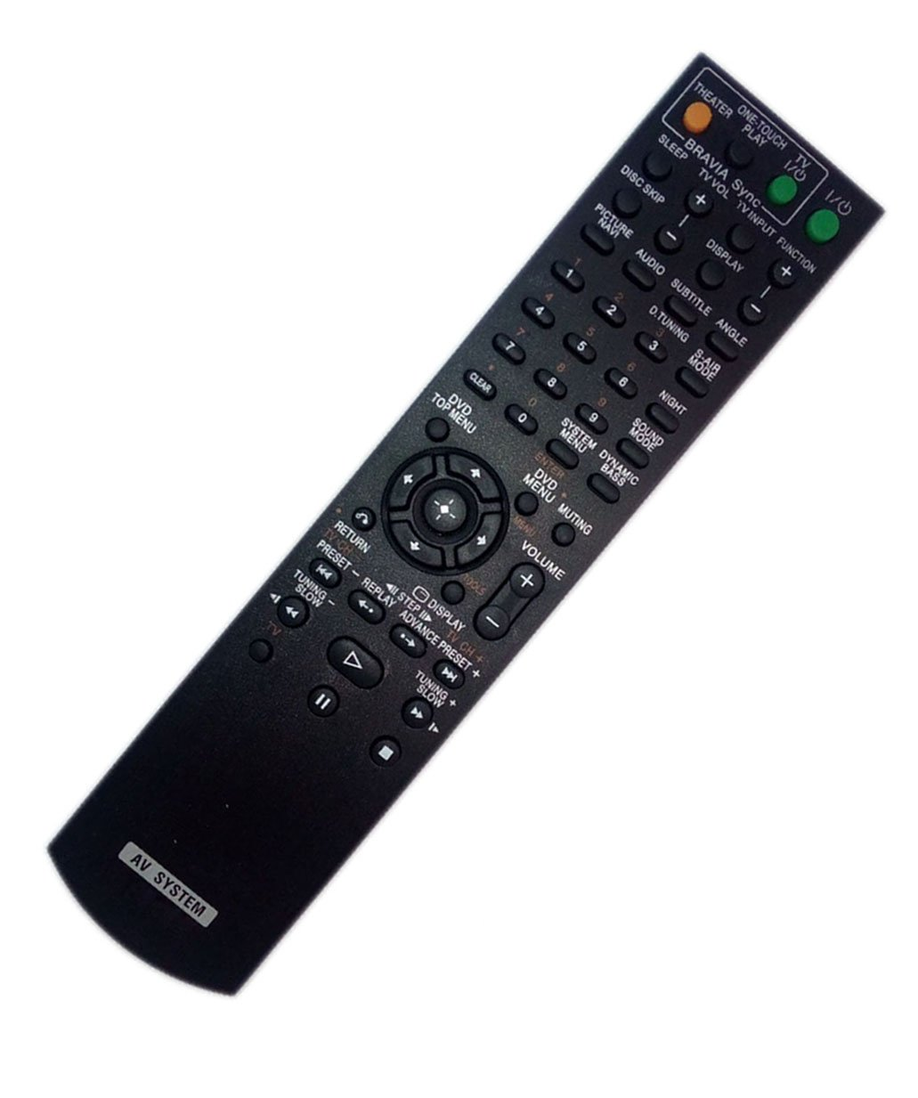 Replaced Remote Control for Sony DAV-HDX576WF HCDHDX585 DAVHDX279W 148057011 HCD-HDX277WC HCDHDX589W Home Theater Audio/Video Receiver AV System