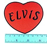 Elvis Presley Heart King of Rock and Roll pop rockabilly country blues music patch logo Jacket T Shirt Patch Sew Iron on Embroidered Symbol Badge Cloth Sign Costume