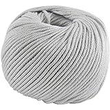 DMC Natura hilo, 100% algodón, color 12gris, tamaño mediano