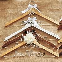 Amazon.com: Personalized wedding hanger with date, custom bridal ...