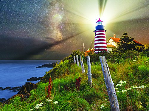 Night over West Quoddy Lighthouse 1000 Piece Jigsaw Puzzle by SunsOut