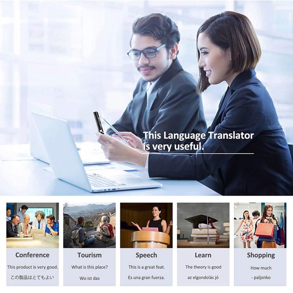 Tierlr B/ürobedarf Smart Language Translator-Ger/ät 52 Sprachen Unterst/ützung f/ür Offline-/Übersetzung WiFi Global Online Portable Instant Voices Translator