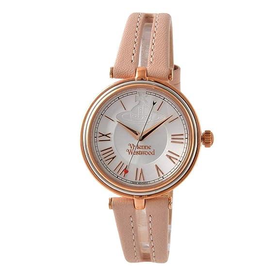 ea81bb89a58d [ Vivienne Westwood ] Vivienne Westwood腕時計 Farringdonシルバーダイヤルライトピンク革クォーツvv168slpkレディース[