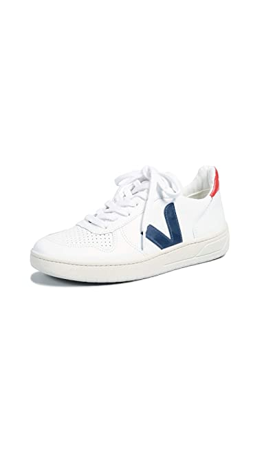 Basses Baskets Homme V10 Cuir Sneakers Veja Blanc Contrase 5Hqxq