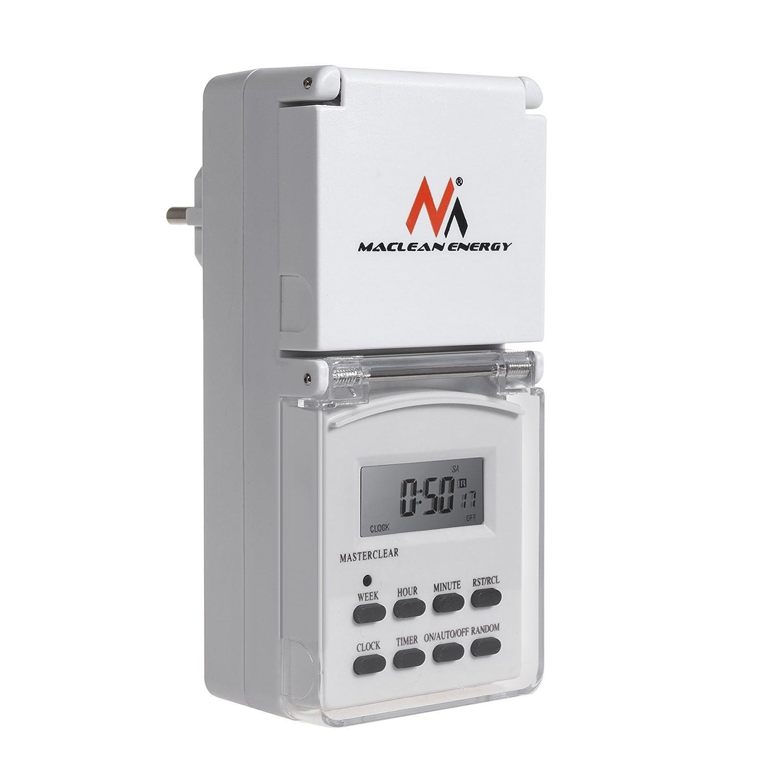 Maclean MCE08G Digital Zeitschaltuhr fü r Auß enbereich mit 10 Programmen
