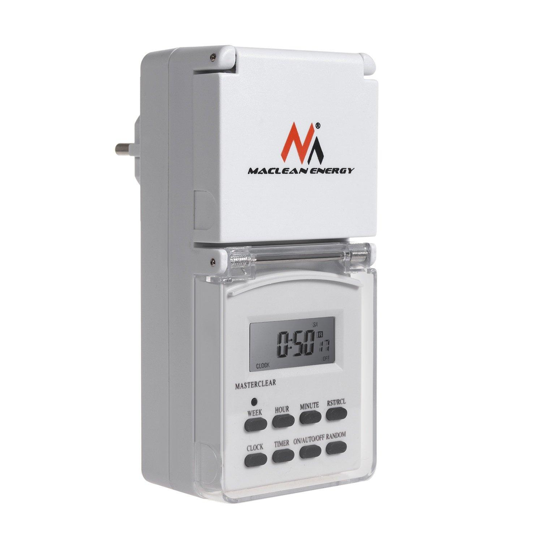 Maclean mce08g Digital Temporizador para exteriores con 10 programas product image