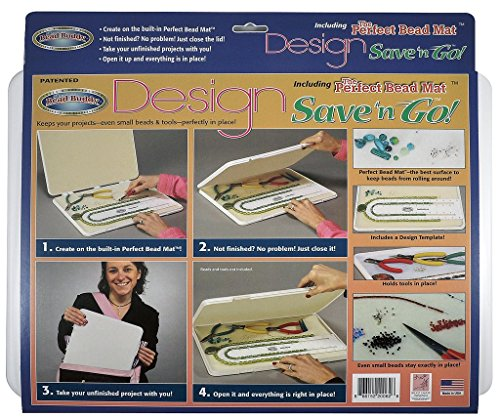 Bead Buddy Design Save and Go Portable Beading Kit - Beading Project Organizer - Dimensions 16 Inches by 12 Inches by 1 Inch