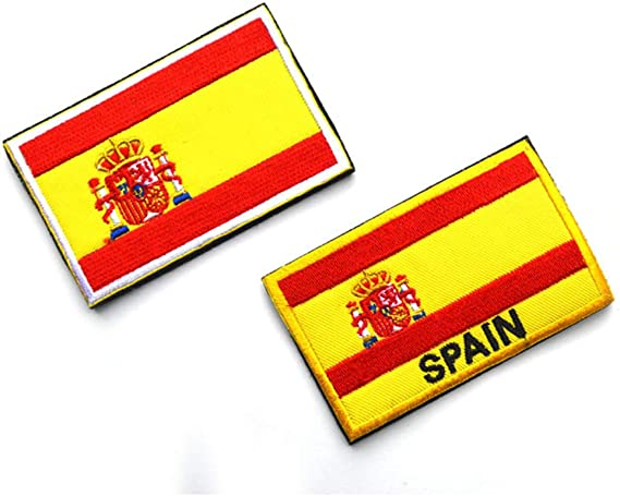 OYSTERBOY Bandera de España bordado brazalete tácticas militares de las Fuerzas Especiales de la moral de la placa de ropa de camuflaje mochila al aire libre de deportes parche (2pcs): Amazon.es: Hogar