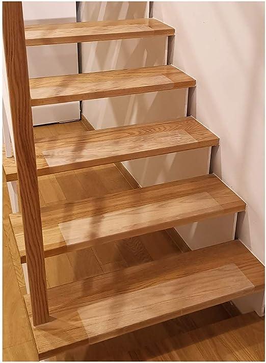 Gyl Alfombras para escaleras 15x60cm Antideslizante Silencio Peldaños de Escalera de Cinta 10pcs - Strip Cubierta Transparente Antideslizante Alfombras para escaleras: Amazon.es: Hogar