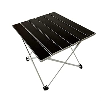 ZHESHEN Ultraligero De Aluminio Plegable Mesa De Camping Plegables Portátil Enrollable para Al Aire Libre Camping