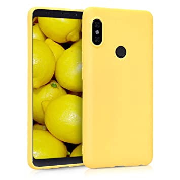 kwmobile Funda para Xiaomi Redmi Note 5 (Global Version) / Note 5 Pro - Carcasa para móvil en [TPU Silicona] - Protector [Trasero] en [Amarillo Mate]