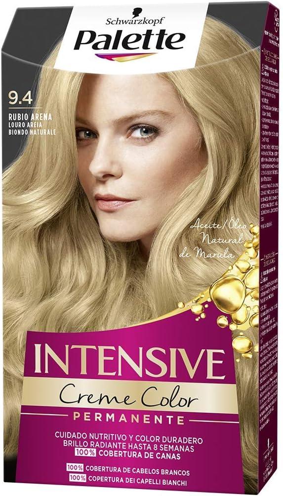 Schwarzkopf Palette Intensive Creme Color – Tono 9.4 cabello Rubio Arena - Coloración Permanente de Cuidado con Aceite de Marula – Óptima cobertura de ...