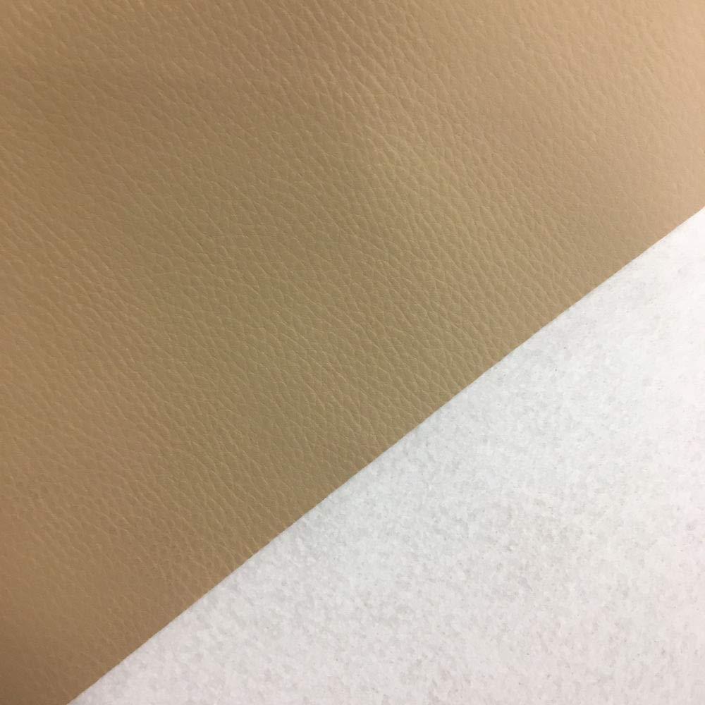 Tela por metros de polipiel para tapizar - Tapicería - Ancho 140 cm - Largo a elección de 50 en 50 cm | Beige