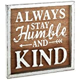 Hallmark Stay Humble Rustic Wood Sign, 11.75x11.75 Plaques & Signs