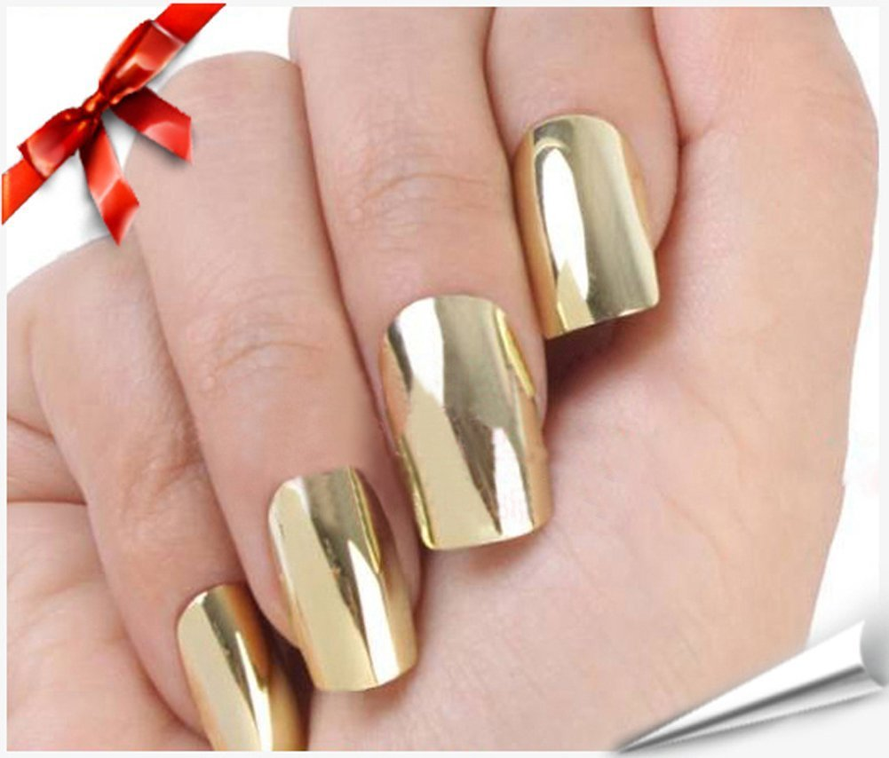 Metallic Gold Nail Polish: Amazon.com : Silver Nail Foil Wraps Polish Strips Stickers