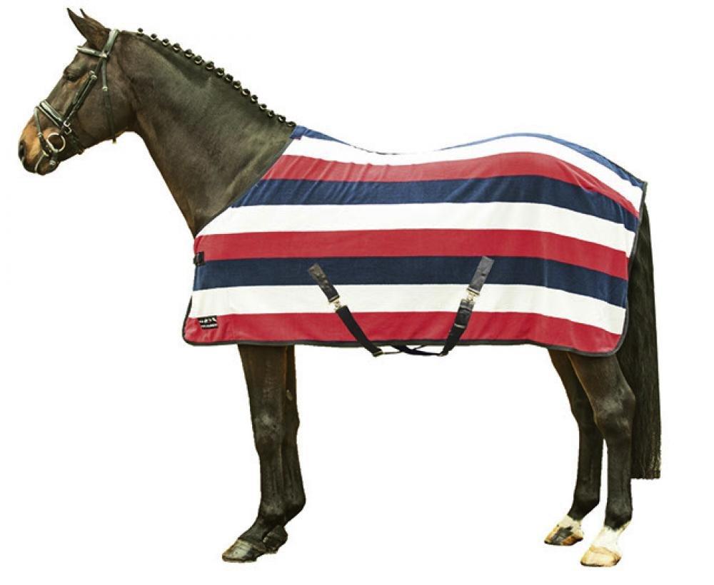 HKM 550797 Abschwitzdecke fashion stripes mit Kreuzgurt L 550812
