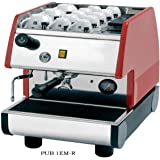 La Pavoni PUB 1EM-R  - 1 Group Commercial Espresso Cappuccino machine , pour-in. Red