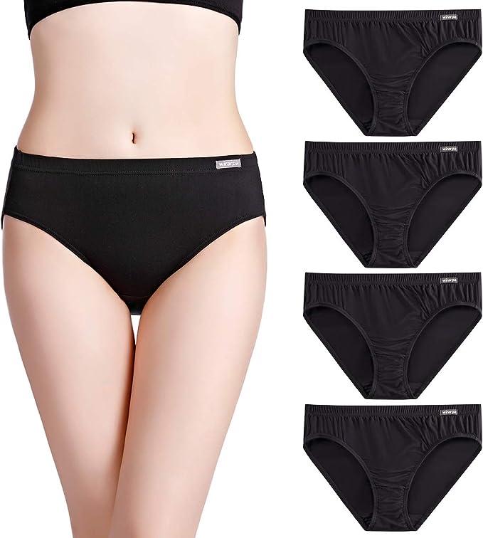 wirarpa Bragas Mujer Suave Elástico Microfibra Braguitas Pantalones Talla S-XXXL: Amazon.es: Ropa y accesorios
