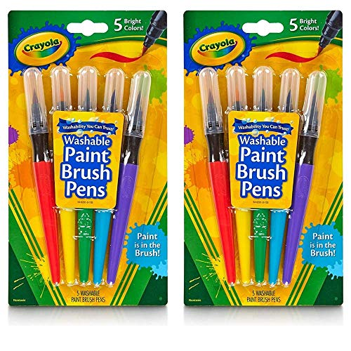 Crayola Washable Paint Brush Pens - 5 Count (2-Pack)