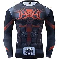 GYM GALA Captain America Men's Compression Shirt 3D Print T-Shirt