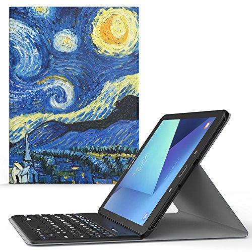 MoKo Samsung Galaxy Tab S3 9.7 Case - Wireless Keyboard Cover Case for Samsung Galaxy Tab S3 9.7 Inch Android 7.0 2017 Version Tablet ( SM-T820 / SM-T825 ), Starry Night by MoKo