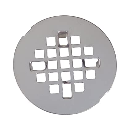 Danco, Inc  89088 Snap-In Style Shower Drain, For Use With Cast Iron,  Plastic And Clay Tile Pipes, Stainless Steel, Single