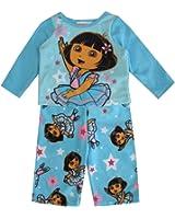 Nickelodeon Baby Girls Dora The Explorer Print 2 Pc Pajama Set 24M Sky Blue