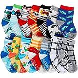 Lictin 14 Pairs Anti-slip Toddler Socks Baby Infants Socks Assorted Kids Socks Animal
