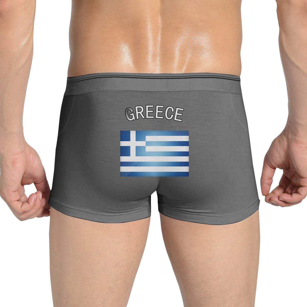 Greece Greek Flag Mens Underwear Funny Boxer Brief Breathable Bikini Briefs