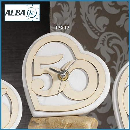 Anniversario Matrimonio Amazon.Albalu Bomboniere Orologio 50 Anniversario Matrimonio Nozze D Oro