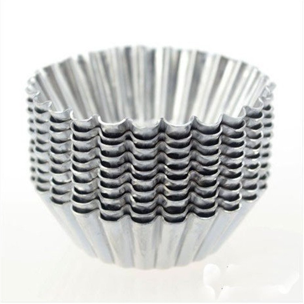 BUYBUYMALL 20pcs Egg Tart Aluminum Lined Mould Tin Baking Tool Cupcake Cake Cookie Molds