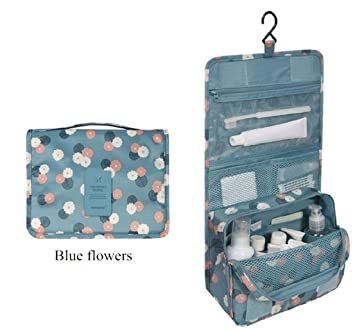 682563e98a Amazon.com   Sweethome Hanging Toiletry Bag-Portable Travel Organizer  Cosmetic Make up Bag case for Women Men Shaving Kit with Hanging Hook for  vacation ...