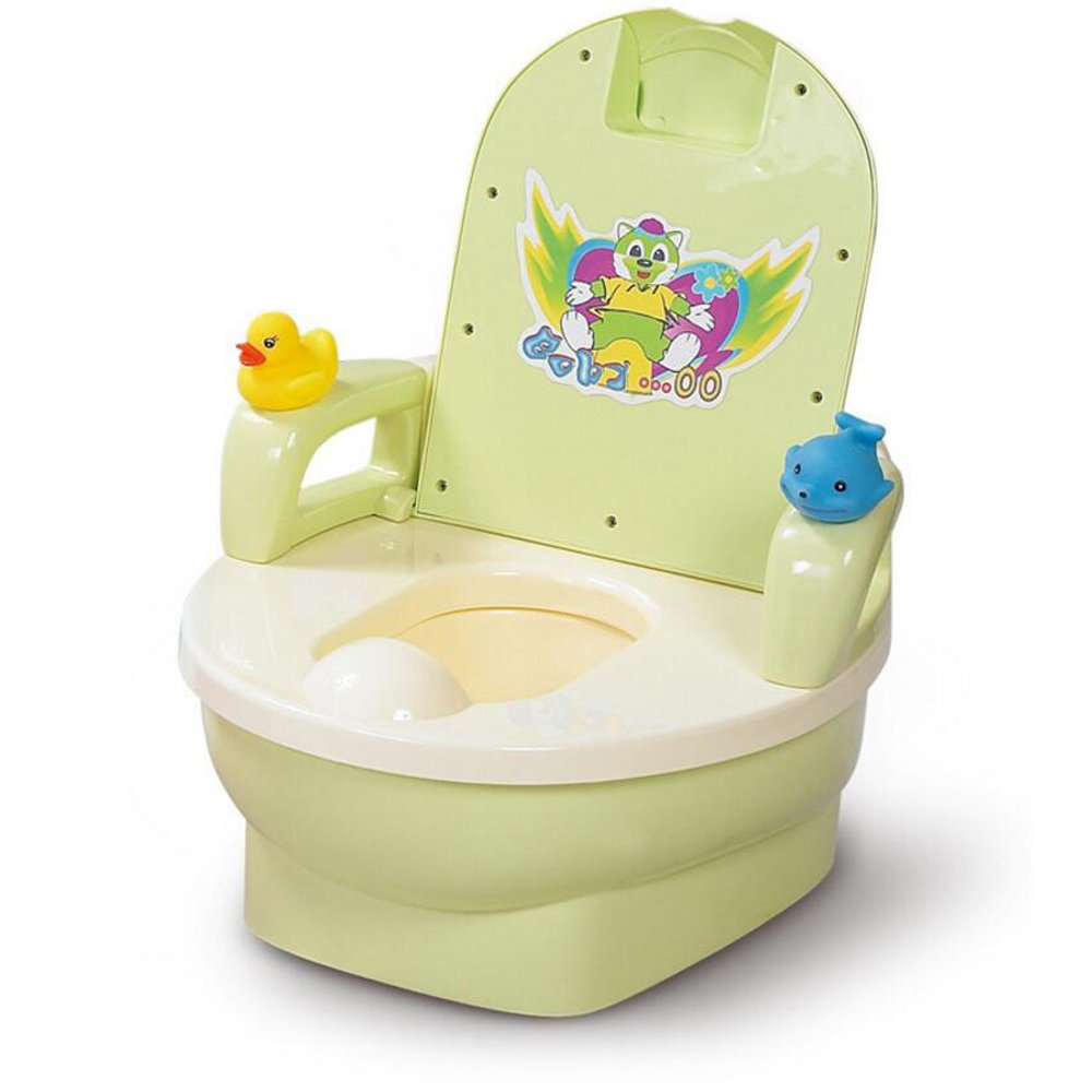 JUNBOSI Baby Toddler Potty Multi Stage Potty Child Toddler Training - Toilet Trainer Seat With Splash Guard And Handles Step Stool Potty & Training Seat (Color : Green)