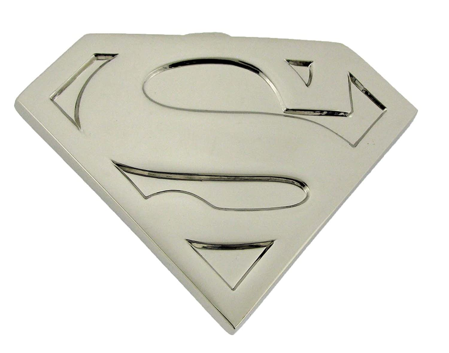 Superman S Logo Die Cut Silver Finishing Superhero Dc Comic Belt Buckle Youth