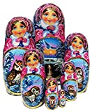 Morning Exclusive 7-Piece Nesting Doll Russian Stacking Babushka Landscape Nature Wild Owls Original Work of Art. One-of-a-kind matryoshka signed by artist