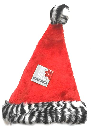 de0a38a855e5c Amazon.com  Be Jolly Adult Unisex Plush Faux Fur Santa Hat