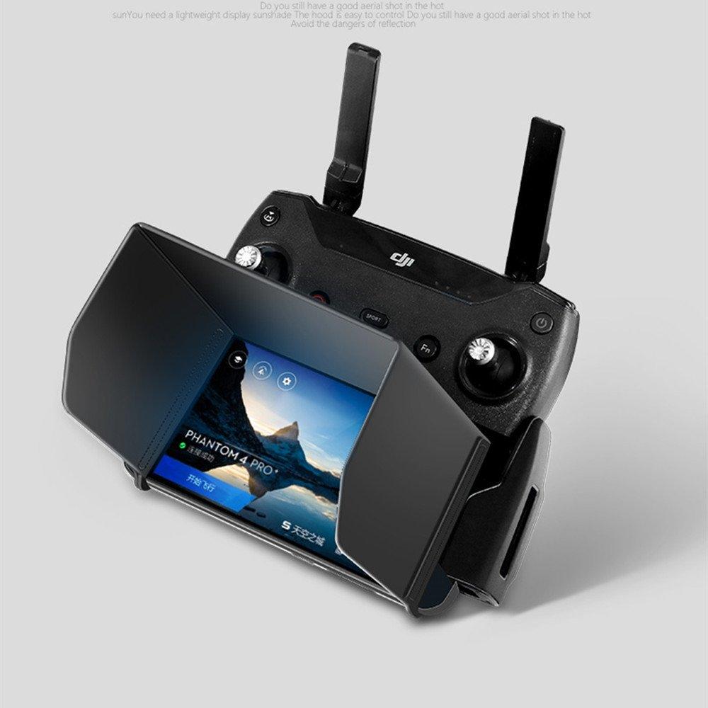 Foldable FPV Sunshade for DJI Spark /Mavic pro/AIR/Inspire 1/Phantom 3 4/OSMO Fits Ipad Air 2/ Ipad Air /Galaxy Tab S3/GALAXY Tab S2 T891C /GALAXY TAB A 9.7/ZenPad 3S 10 Tablets Size within 9.7'' -L200