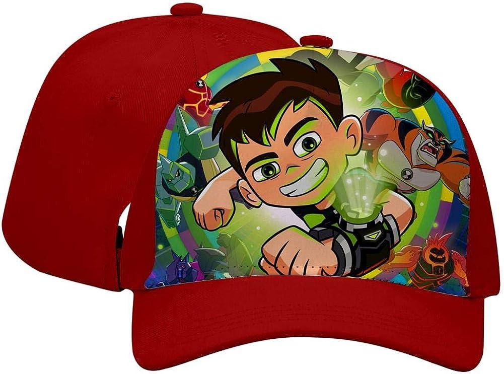 BEKAI Unisex Ben-10 Aliens Adjustable Brimbill Flats Hat for Mens//Womens Hip Hop Caps