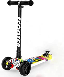 ZXL Démontage Scooters à Trois Roues 2-16 Ans Garçons Filles Enfants Flash Largeur de Roue Réglable Scooter (Couleur : Style1)