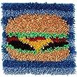 Spinrite Wonderart Latch Hook Kit, 12 by 12-Inch, Hamburger