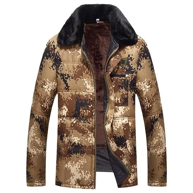 Abrigo De Invierno para Hombre De con Invierno De Algodón Chaqueta De Mode De Marca Cuello