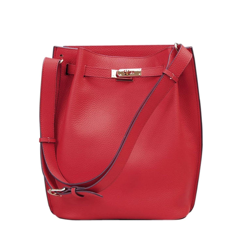 Ainifeel Women's Genuine Leather Bucket Shoulder Handbags Hobo Purse
