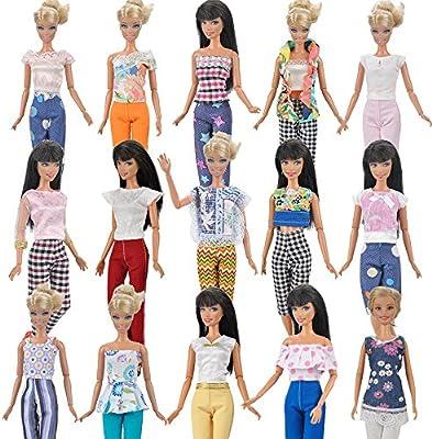 Amazon.es: E-TING 7 sets=14 artículos 7 ropa traje 7 pantalones ...